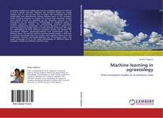 Copertina di Machine learning in agroecology