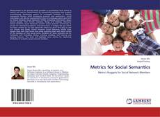 Couverture de Metrics for Social Semantics