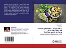 Buchcover von Development of Polyherbal Formulation for Antibacterial Activity