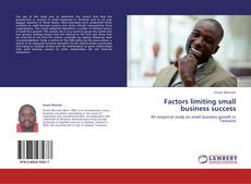 Bookcover of Factors limiting  small business success