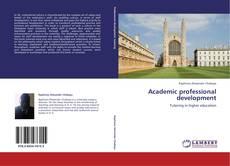 Couverture de Academic professional development