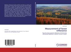 Bookcover of Measurement of forest reflectance