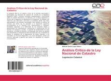 Copertina di Análisis Crítico de la Ley Nacional de Catastro