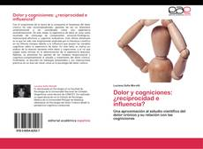 Bookcover of Dolor y cogniciones: ¿reciprocidad e influencia?