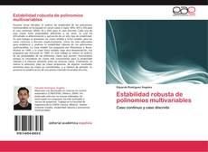 Buchcover von Estabilidad robusta de polinomios multivariables