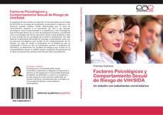 Capa do livro de Factores Psicológicos y Comportamiento Sexual de Riesgo de VIH/SIDA