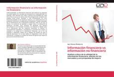 Bookcover of Información financiera vs información no financiera