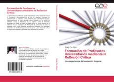Copertina di Formación de Profesores Universitarios mediante la Reflexión Crítica