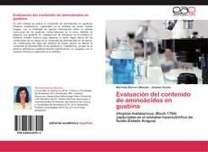 Обложка Evaluación del contenido de aminoácidos en guabina