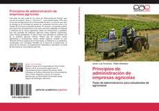 Capa do livro de Principios de administración de empresas agrícolas