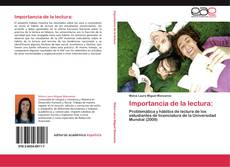 Bookcover of Importancia de la lectura: