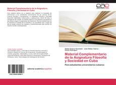 Borítókép a  Material Complementario de la Asignatura Filosofía y Sociedad en Cuba - hoz
