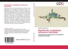 Bookcover of Significado, ciudadanía, memoria e identidad