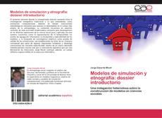 Portada del libro de Modelos de simulación y etnografía: dossier introductorio