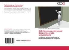 Portada del libro de Satisfacción profesional del profesorado Universitario