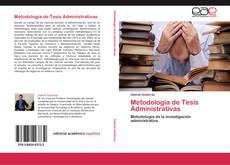Portada del libro de Metodología de Tesis Administrativas
