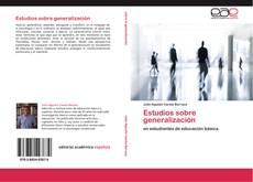 Capa do livro de Estudios sobre generalización