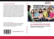 Bookcover of La comprensión de textos