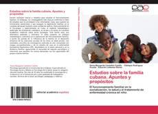 Capa do livro de Estudios sobre la familia cubana. Apuntes y propósitos