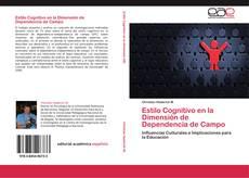 Обложка Estilo Cognitivo en la Dimensión de Dependencia de Campo
