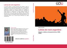 Couverture de Letras de rock argentino