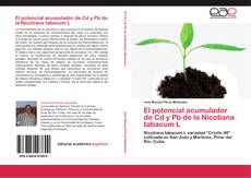 Capa do livro de El potencial acumulador de Cd y Pb de la Nicotiana tabacum L