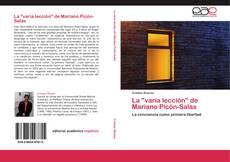 """Portada del libro de La """"varia lección"""" de Mariano Picón-Salas"""