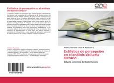 Capa do livro de Estilística de percepción en el análisis del texto literario