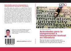 Capa do livro de Actividades para la comprensión e interpretación textual en literatura