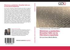 Dómines y pedantes.  Enseñar latín en la literatura española的封面