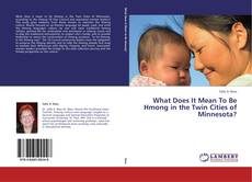 What Does It Mean To Be Hmong in the Twin Cities of Minnesota? kitap kapağı