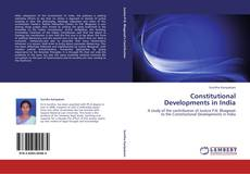 Couverture de Constitutional Developments in India