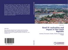 Buchcover von Basel III: evaluation and impact in the Czech Republic