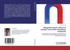 Bookcover of Magnetocaloric effect in certain rare earth-transition materials