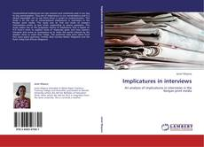 Portada del libro de Implicatures in interviews