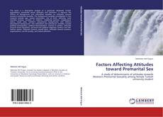 Buchcover von Factors Affecting Attitudes toward Premarital Sex