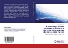 Copertina di Концептуальные основы договора в системе источников финансового права