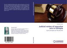 Bookcover of Judicial review of executive acts in Ethiopia