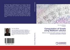 Bookcover of Computation of Greeks using Malliavin calculus