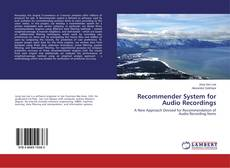 Couverture de Recommender System for Audio Recordings