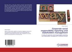 Bookcover of Corporate social responsibility reporting and stakeholders management