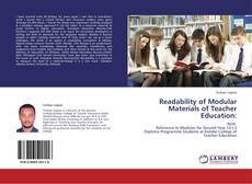 Bookcover of Readability of Modular Materials of Teacher Education: