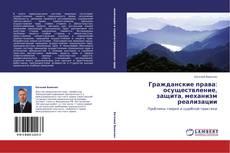 Portada del libro de Гражданские права: осуществление, защита, механизм реализации