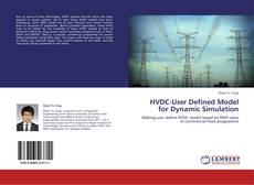 Buchcover von HVDC-User Defined Model for Dynamic Simulation
