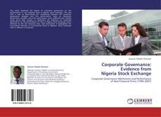 Capa do livro de Corporate Governance: Evidence from  Nigeria Stock Exchange