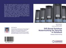 Couverture de SVD Based Database Watermarking for Security in Database