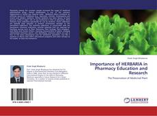 Couverture de Importance of HERBARIA in Pharmacy Education and Research