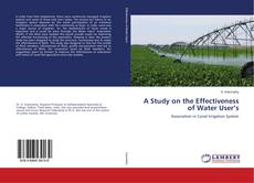 Обложка A Study on the Effectiveness of Water User's