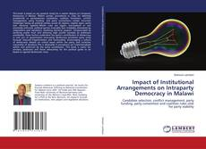 Copertina di Impact of Institutional Arrangements on Intraparty Democracy in Malawi