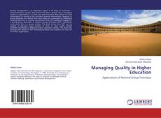 Managing Quality in Higher Education kitap kapağı